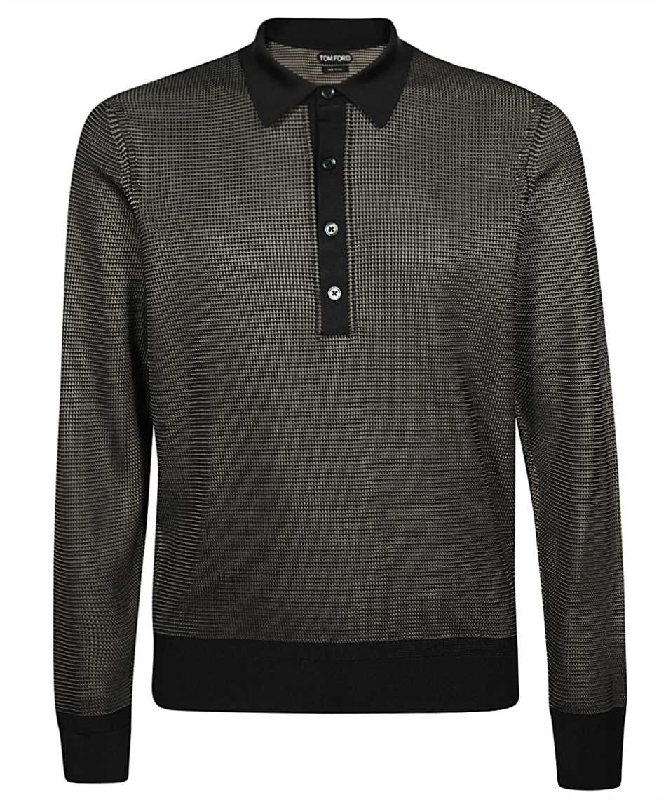 Tom Ford BUS98-TFK132 SILK KNIT Polo 1