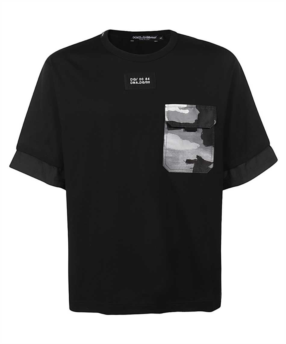 Dolce & Gabbana G8MV0Z G7YJR CAMOUFLAGE-PRINT POCKET T-Shirt 1