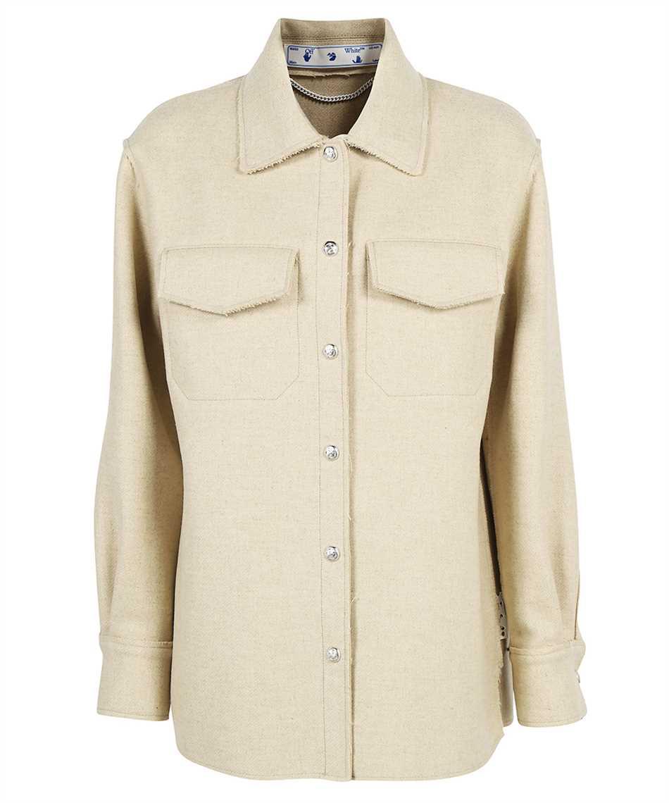 Off-White OWEA261F21FAB001 HEAVY COATING SHIRT Jacket 1