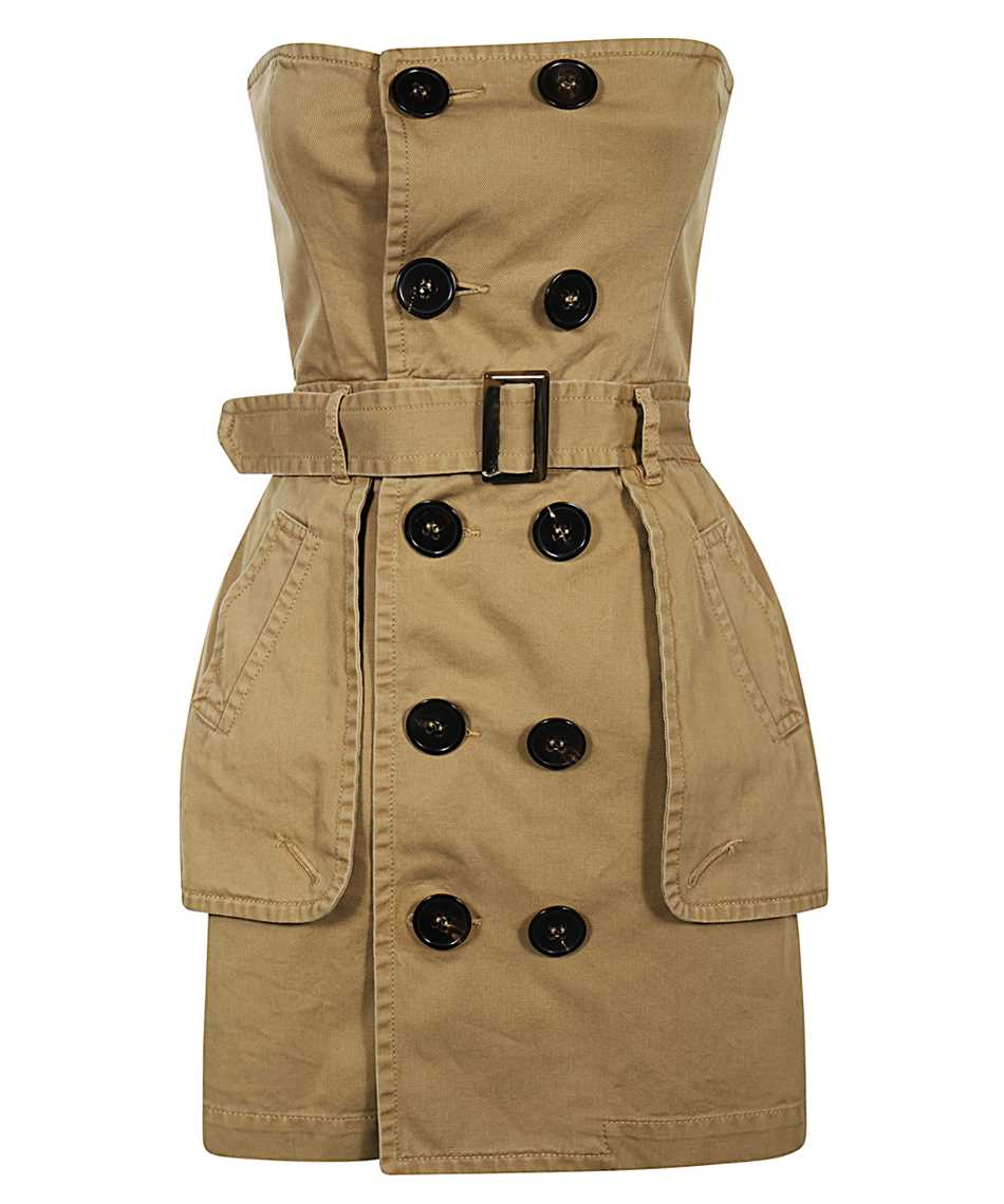 Dsquared2 S72CV0137 S52994 DECONSTRUCTED TRENCH Kleid 1