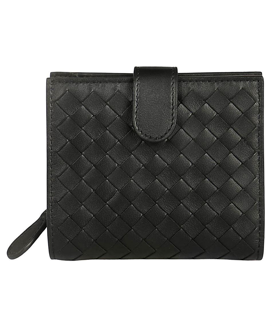 d4245ddf09 Bottega Veneta 121059 V001N portafogli con intreccio - Nero   Luxury ...