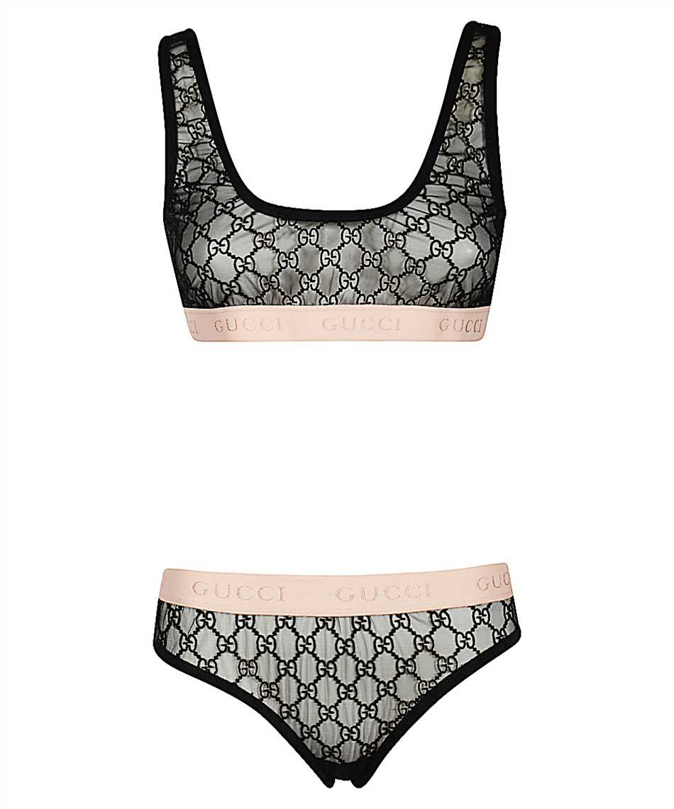 Gucci 622168 XJBVY GG EMBROIDERY Lingerie set 1