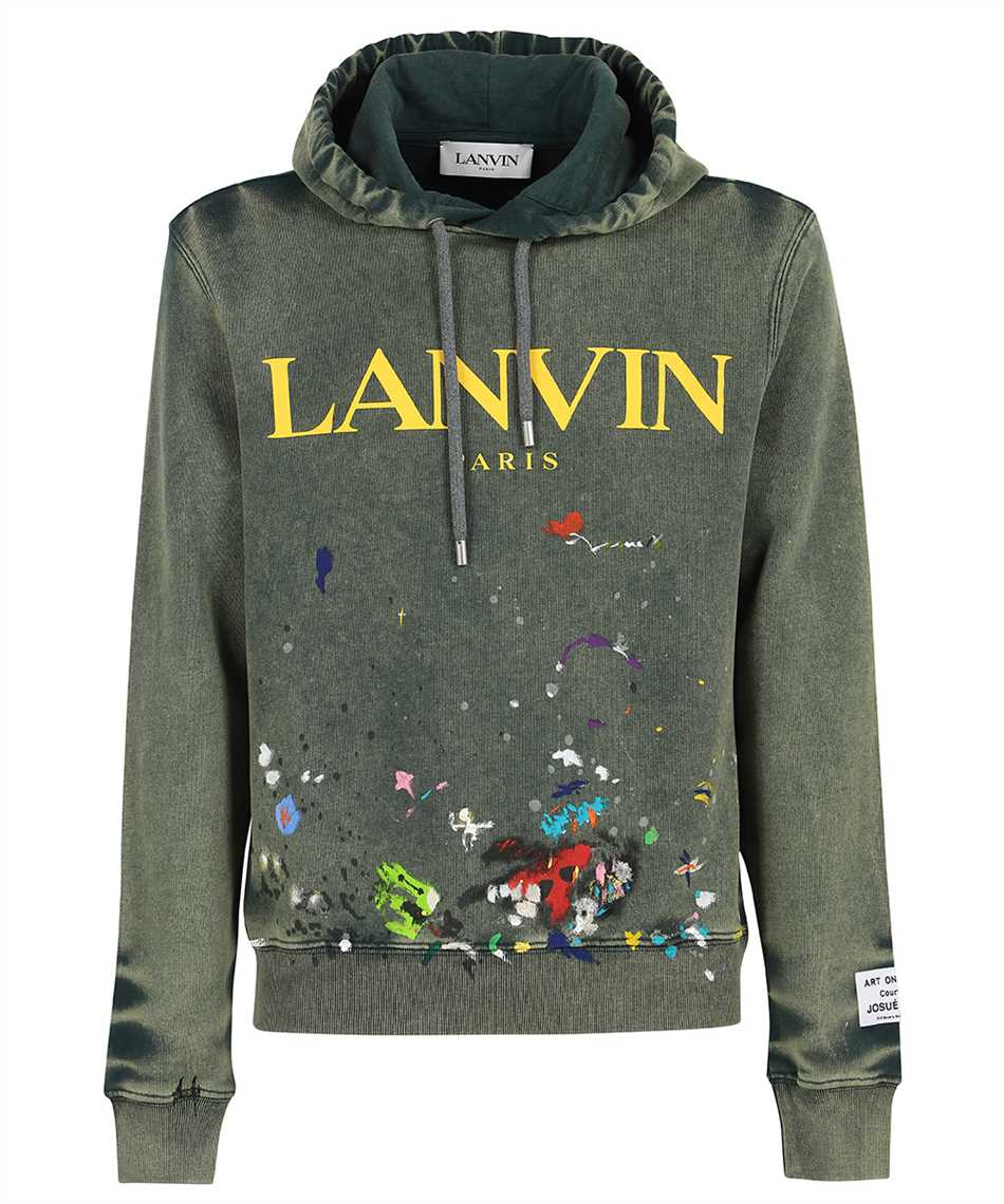 Lanvin RM HO0001 J093 E21 GALLERY DEPT. WITH WORN EFFECT PAINT MARKS Hoodie 1