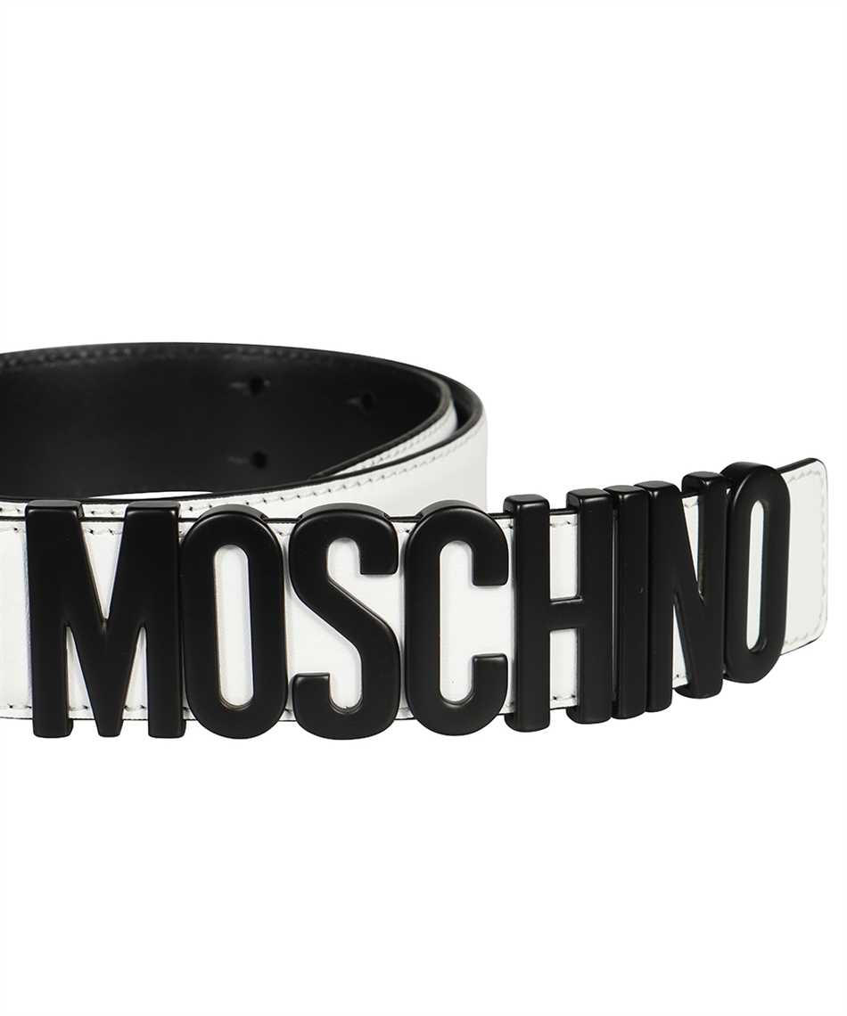 Moschino A8014 8001 LETTERING LOGO Belt 3