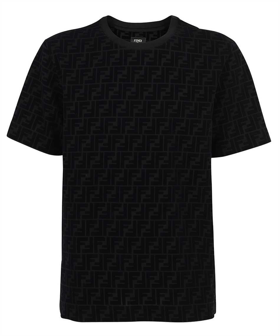 Fendi FY0936 A7D5 FF PIQUET PRINT T-Shirt 1