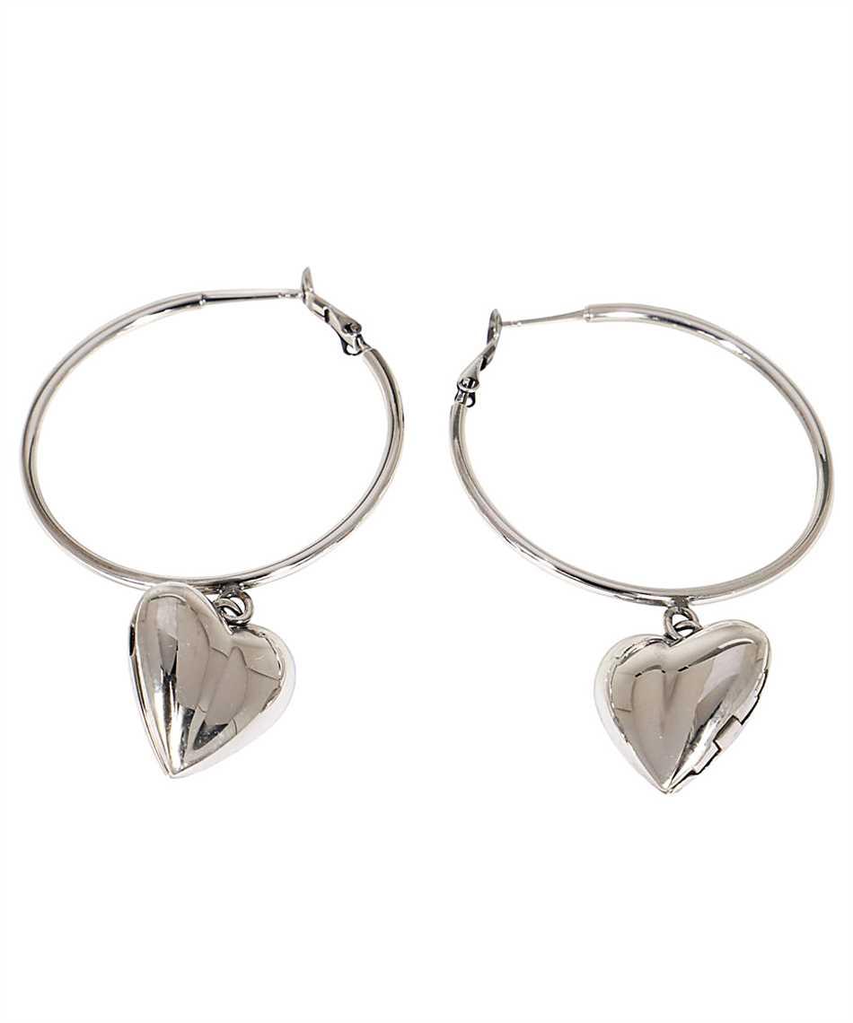 Alexander McQueen 640266 J160Z HEART LOCKET HOOP Earrings 2