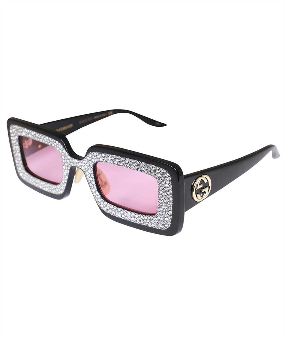 Gucci 663760 J0740 RECTANGULAR-FRAME WITH CRYSTALS Sunglasses 2