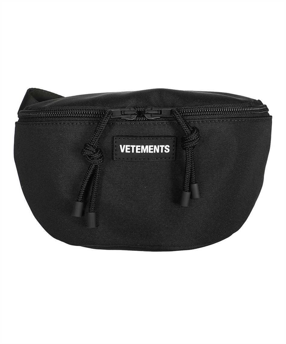 Vetements UA52BA100B ALL BLACK LOGO Belt bag 1