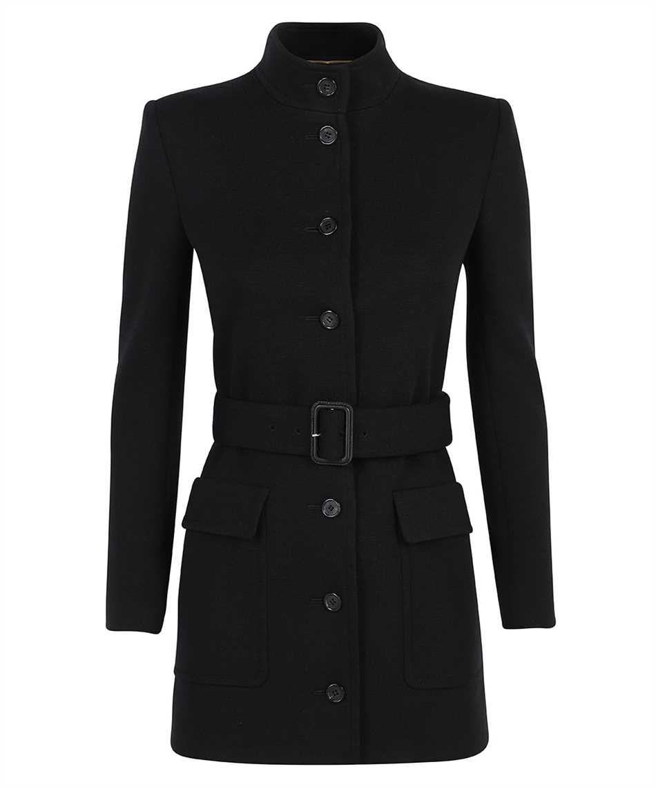 Saint Laurent 657668 Y288V LONG BELTED WOOL Cappotto 1