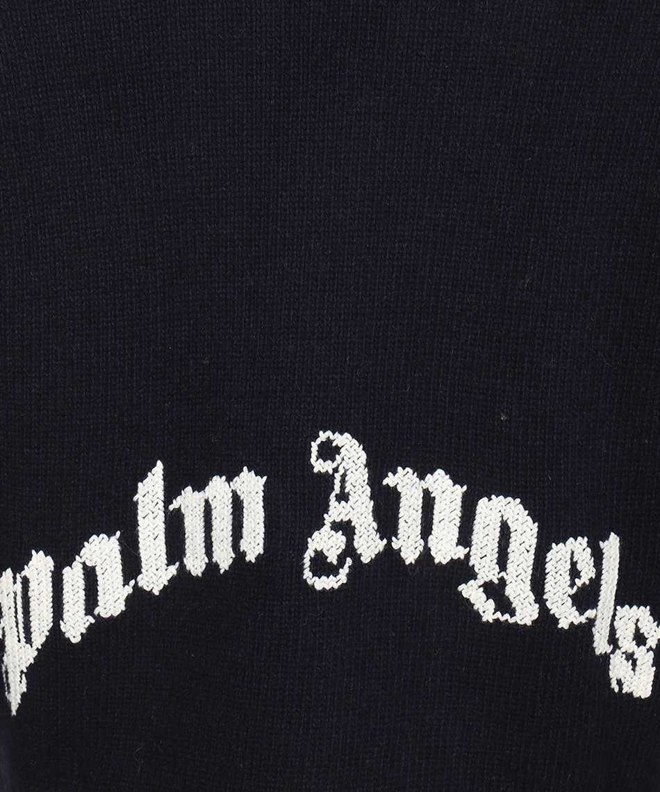 Palm Angels PMHD006F21KNI001 CURVED LOGO V NECK Maglia 3