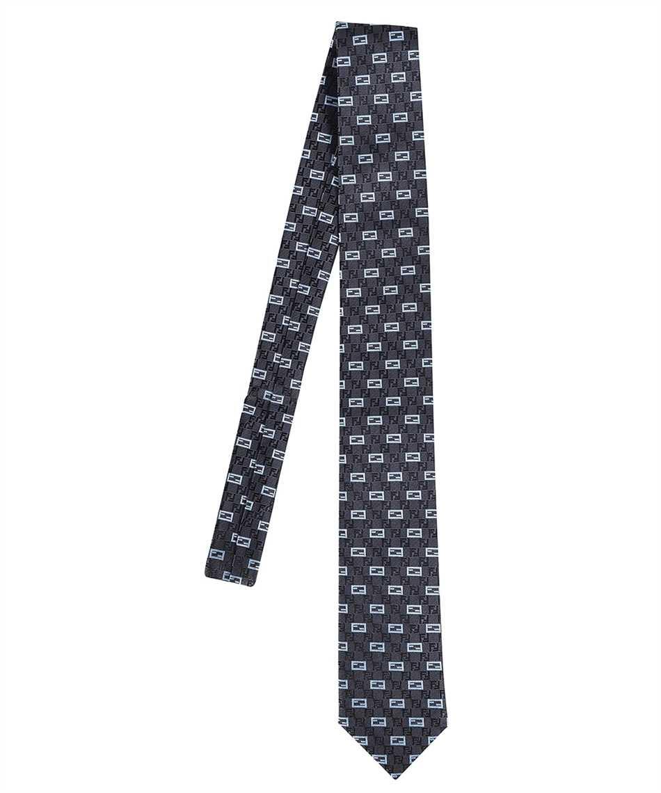 Fendi FXC023 AFY1 JACQUARD FF Krawatte 1