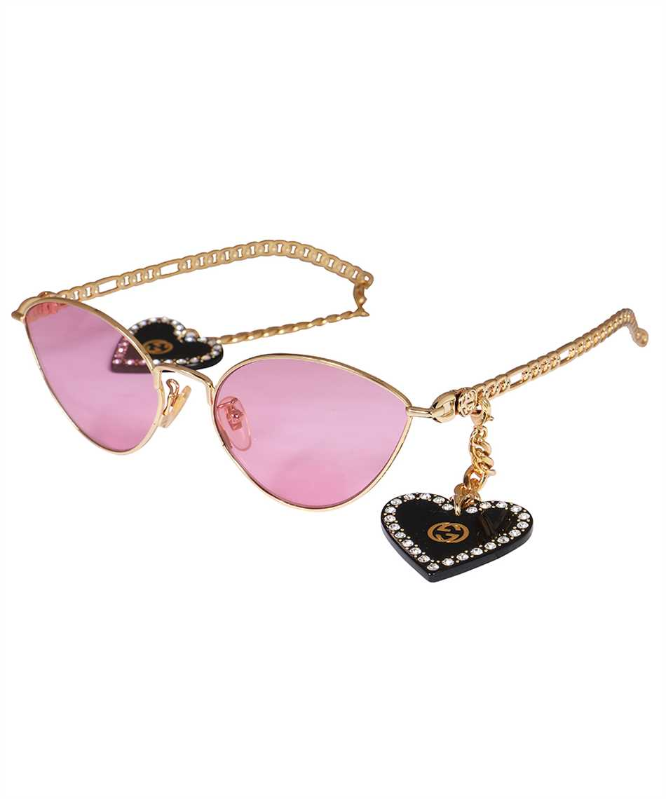 Gucci 663767 I3331 HEART SHAPED CHARMS CAT EYE Sonnenbrille 2