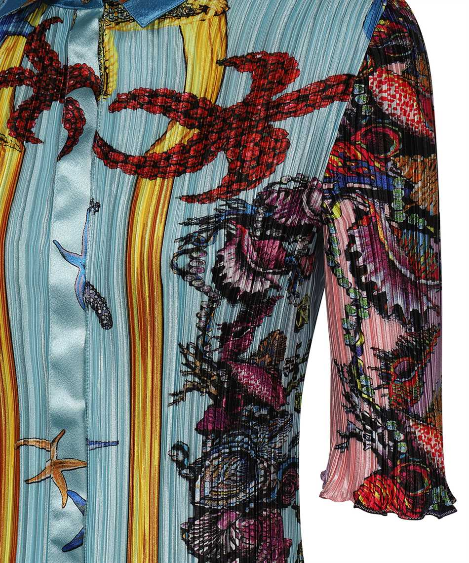 Versace A89232 1F01266 TRÉSOR DE LA MER PRINT PLEATED SHIRT Abito 3
