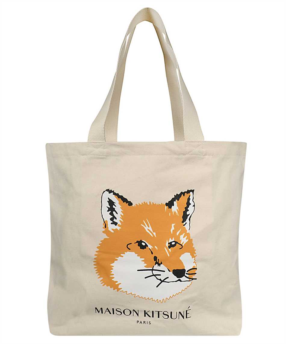 Maison Kitsune EU05110WW0008 FOX HEAD TOTE Borsa 1