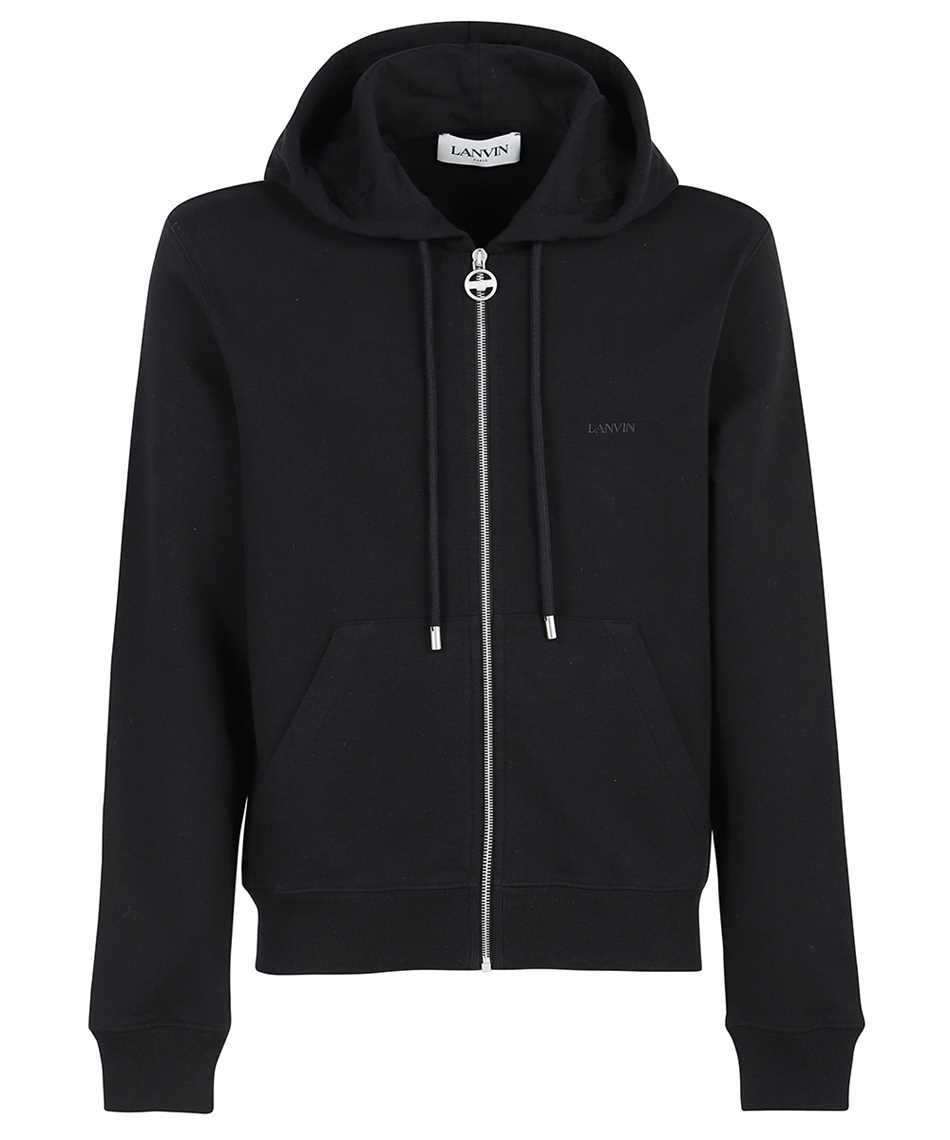 Lanvin RM HO0006 J008 A21 EMBROIDERED ZIPPED Hoodie 1