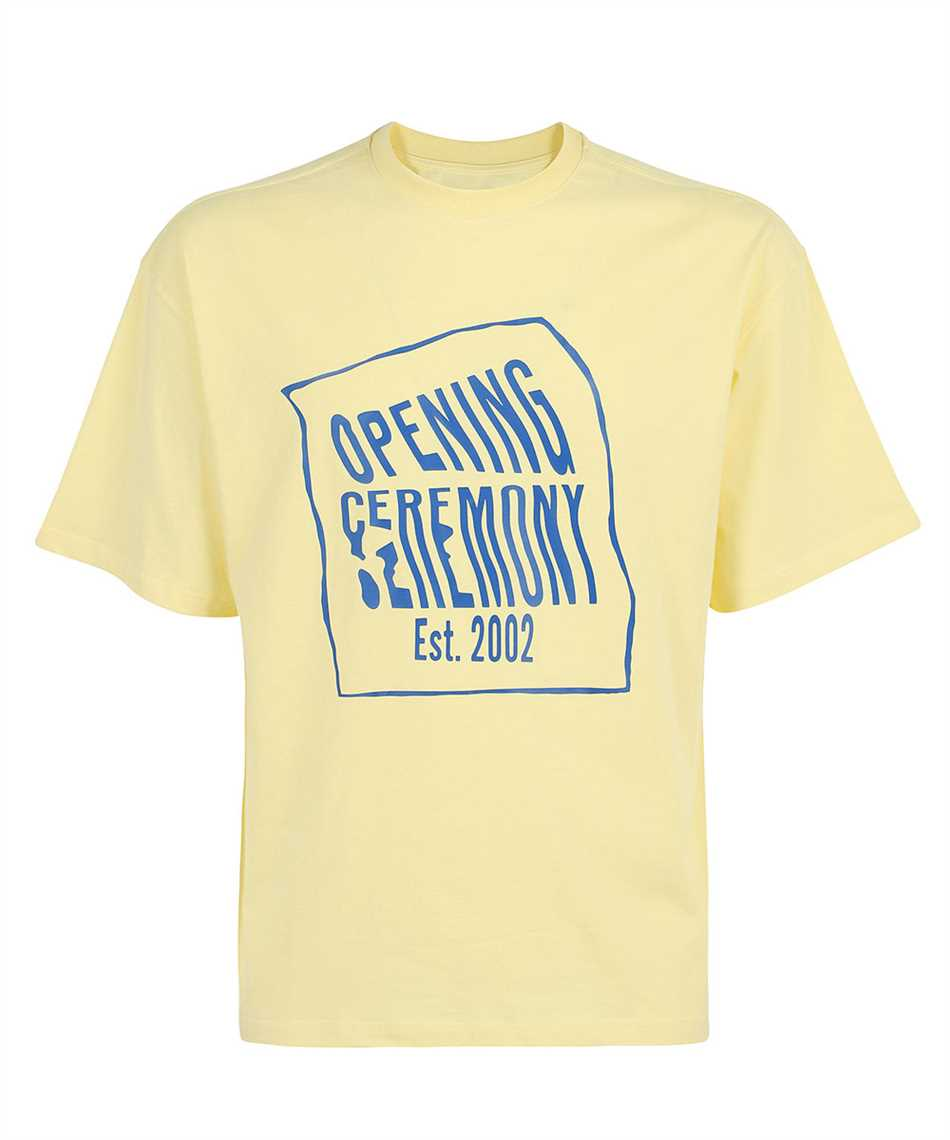 Opening Ceremony YMAA001S21JER002 WARPED LOGO REGULAR T-shirt 1