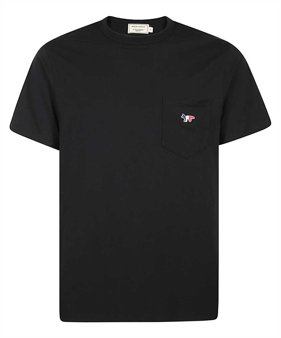 Maison Kitsune FM00120KJ0010 TRICOLOR FOX PATCH POCKET T-shirt 1