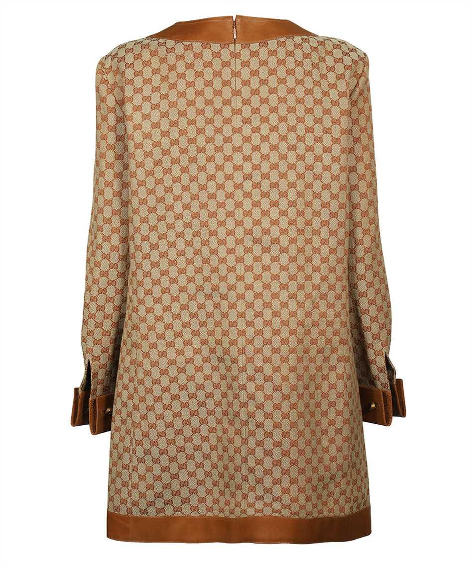 Gucci 655427 Z8AOA GG LINEN CANVAS KAFTAN Dress 2