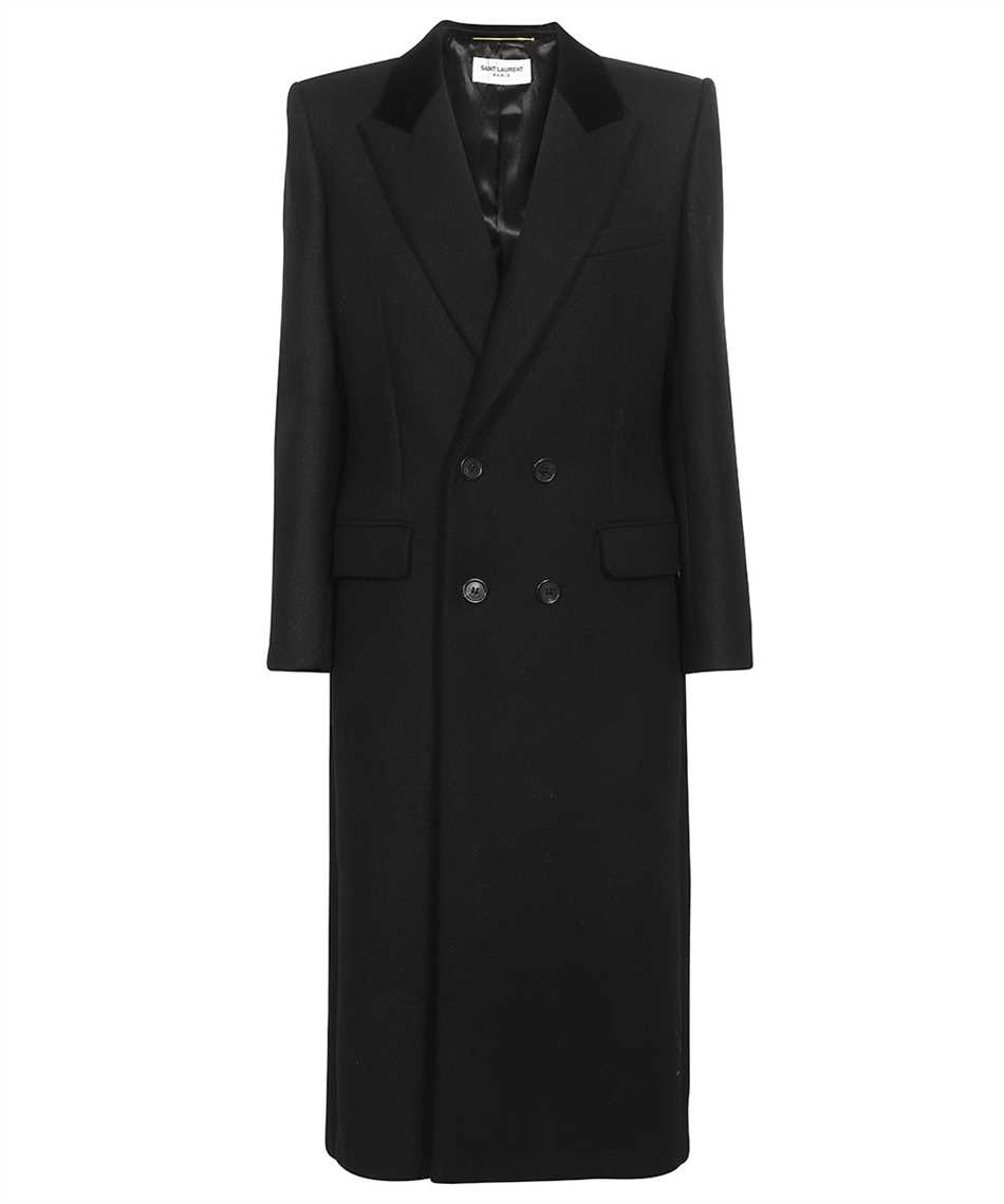 Saint Laurent 661315 Y5B58 DOUBLE-BREASTED LONG Cappotto 1