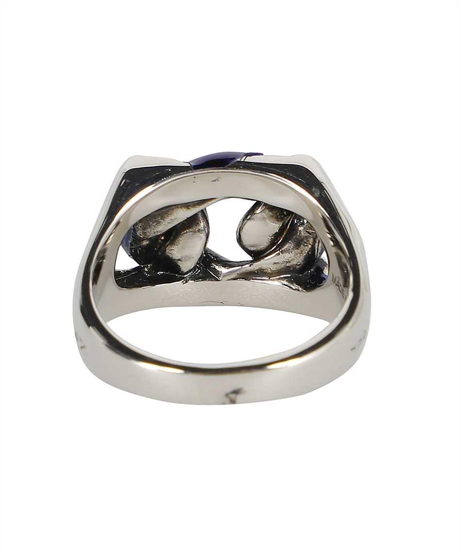 Alexander McQueen 663692 IAG2Y BLUE CHAIN Ring 2