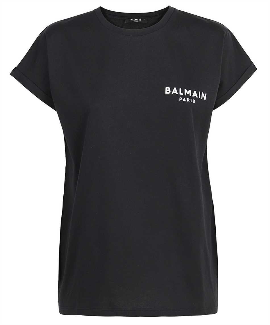 Balmain WF1EF010B013 FLOCKED LOGO T-shirt 1