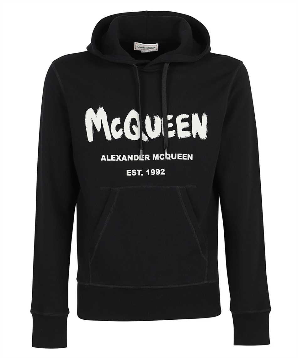 Alexander McQueen 665401 QRZ71 GRAFFITI Kapuzen-Sweatshirt 1