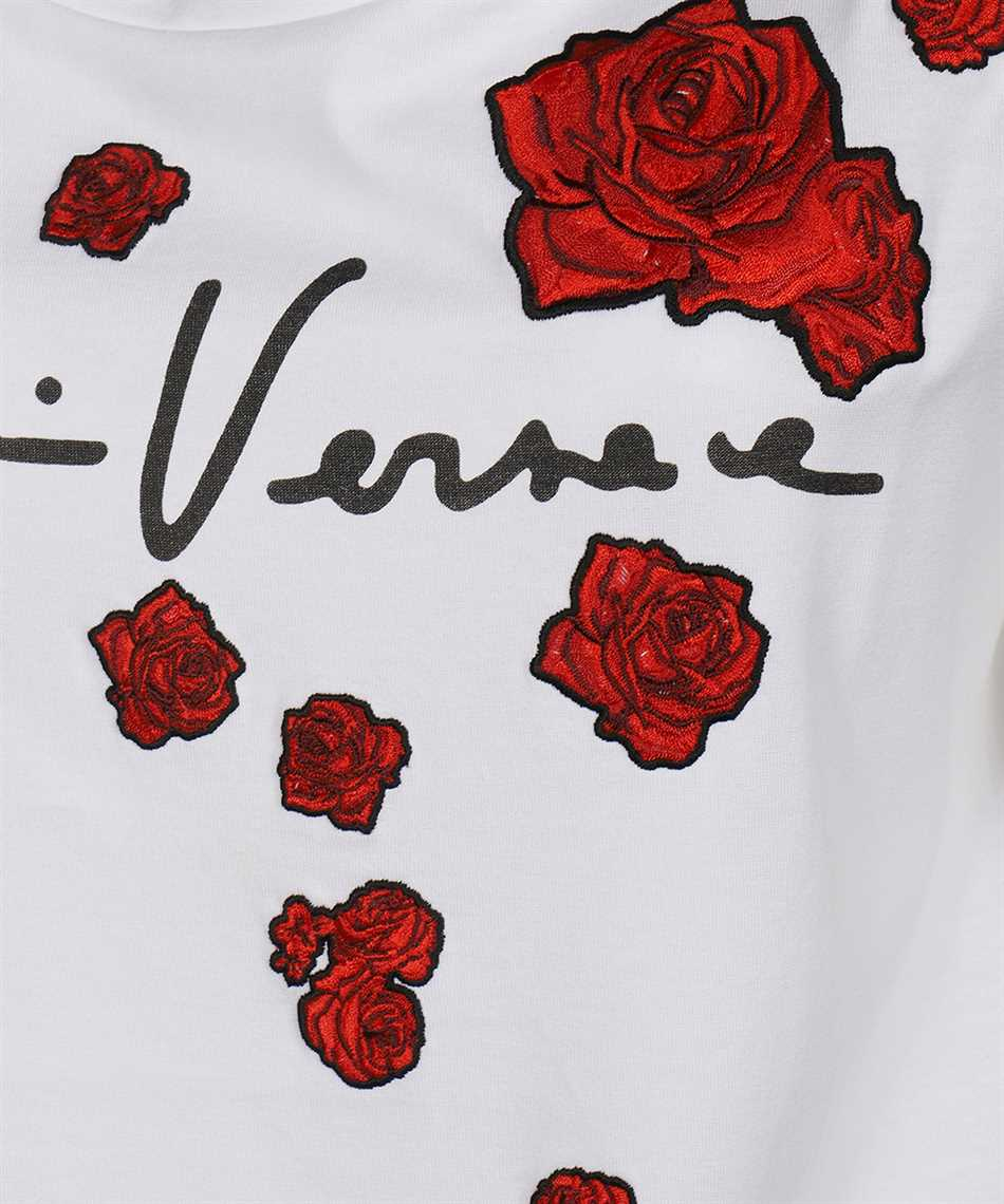 Versace A87466 A228806 EMBROIDERED ROSES T-shirt 3
