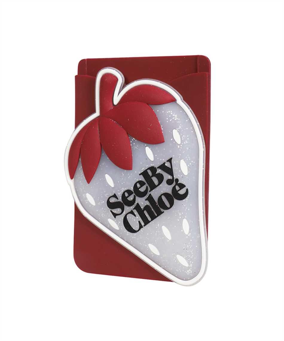 See By Chloè CHS21AK649A08 JARDIN DE ROSES Card holder on phone 3