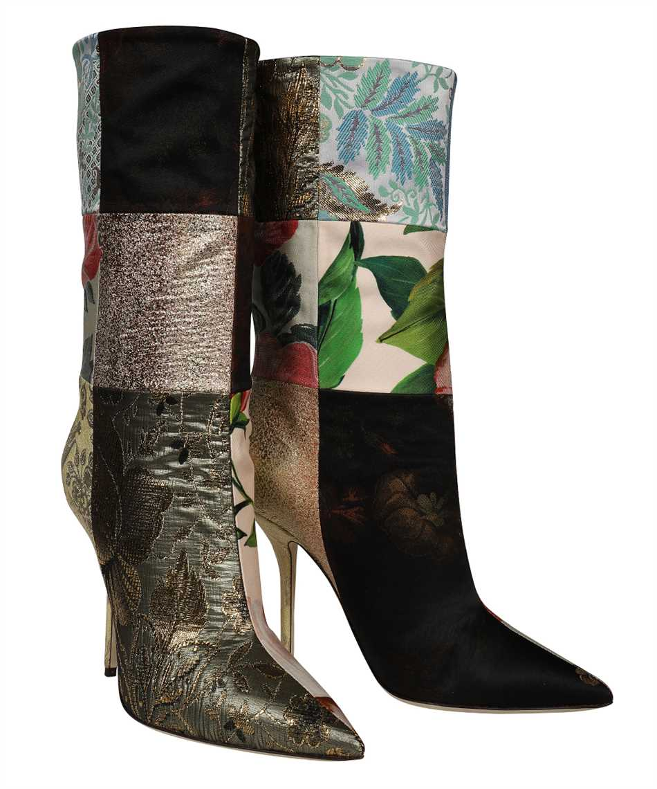 Dolce & Gabbana CT0735 AO657 PATCHWORK FABRIC ANKLE Boots 2
