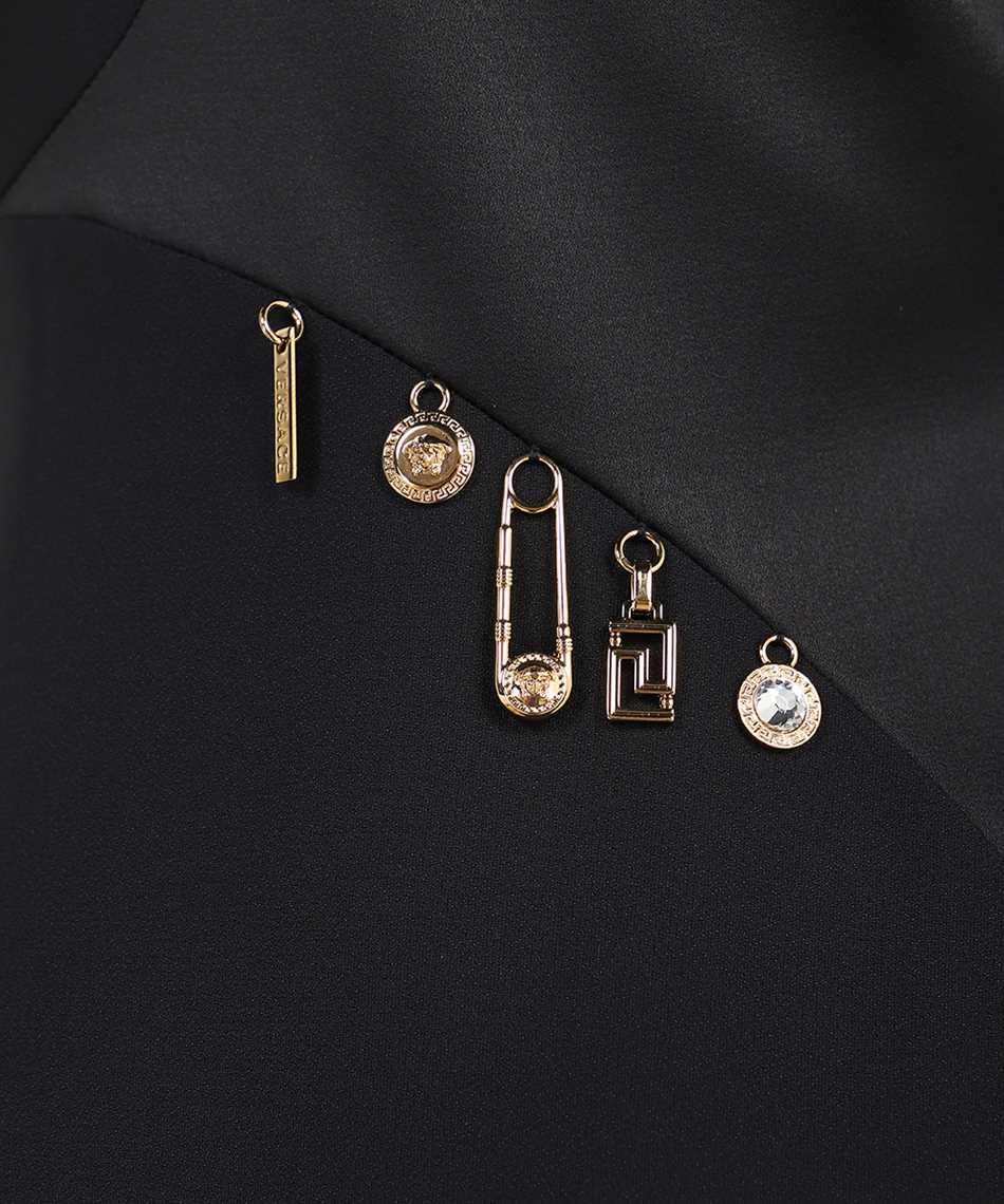 Versace 1001121 1A00940 CHARM-EMBELLISHED SATIN EVENING Kleid 3