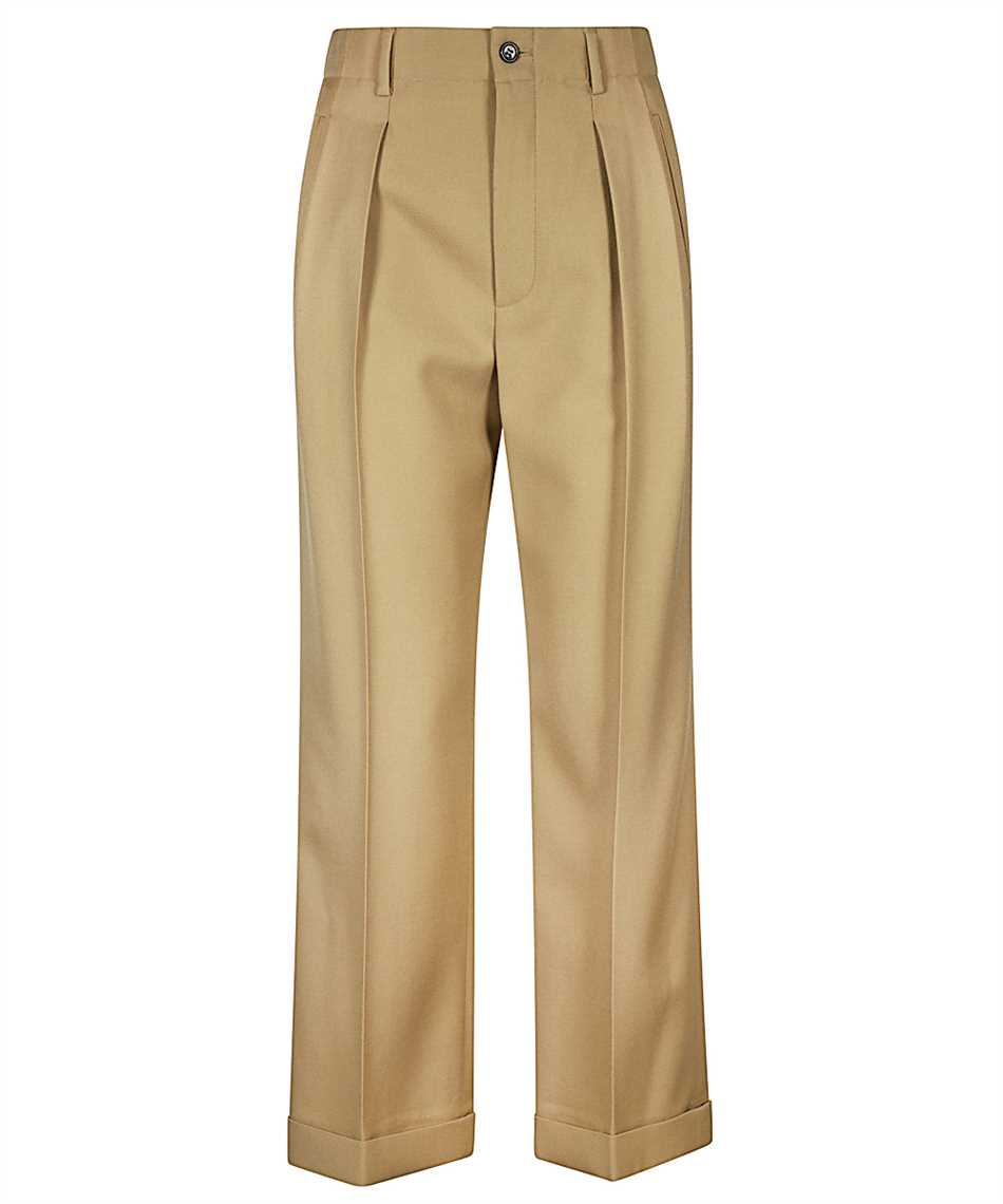 Saint Laurent 627259 Y404W HIGH-RISE PLEATED Trousers 1