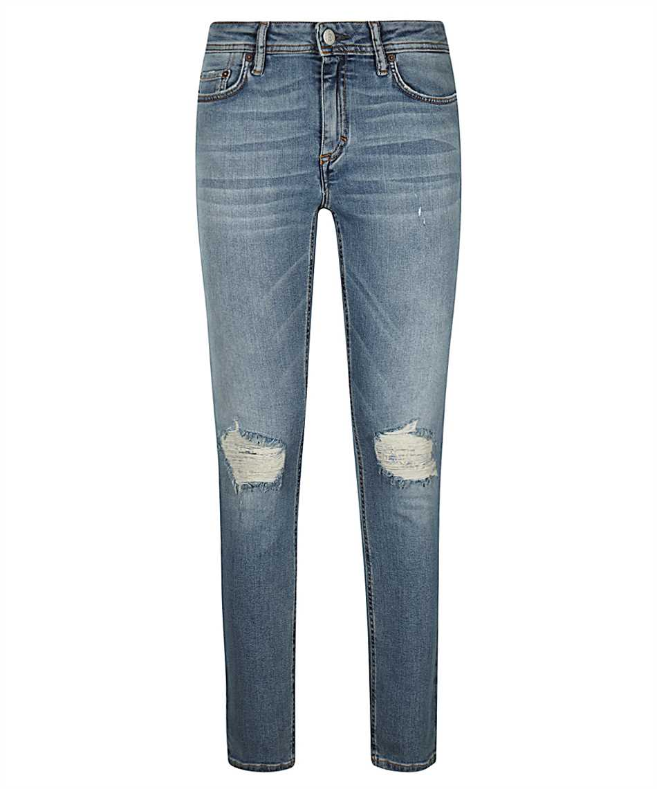Acne Climb Blue Patched Up Jeans 1