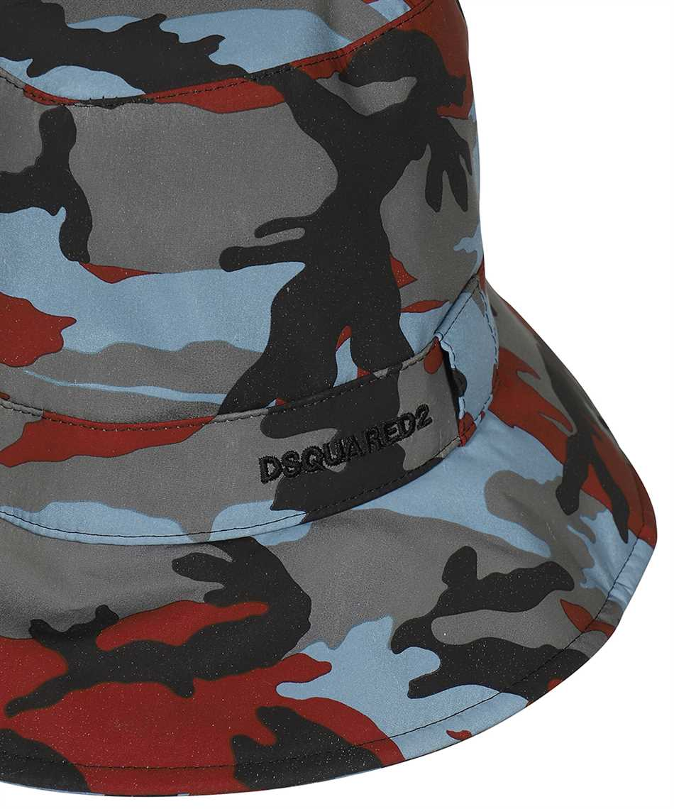 Dsquared2 HAM0021 11703887 CAMOUFLAGE NYLON BUCKET Hut 3