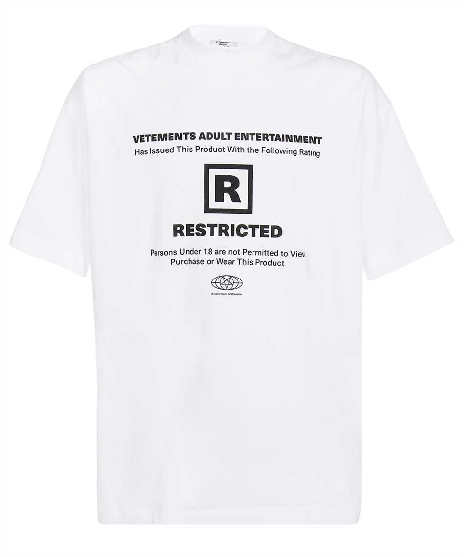 Vetements UA52TR390W 18+ RESTRICTED T-shirt 1