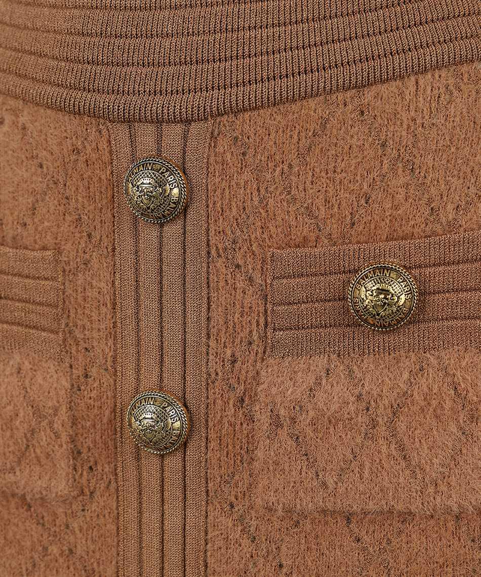 Balmain UF06332K113 SHORT DIAMOND KNIT Kleid 3