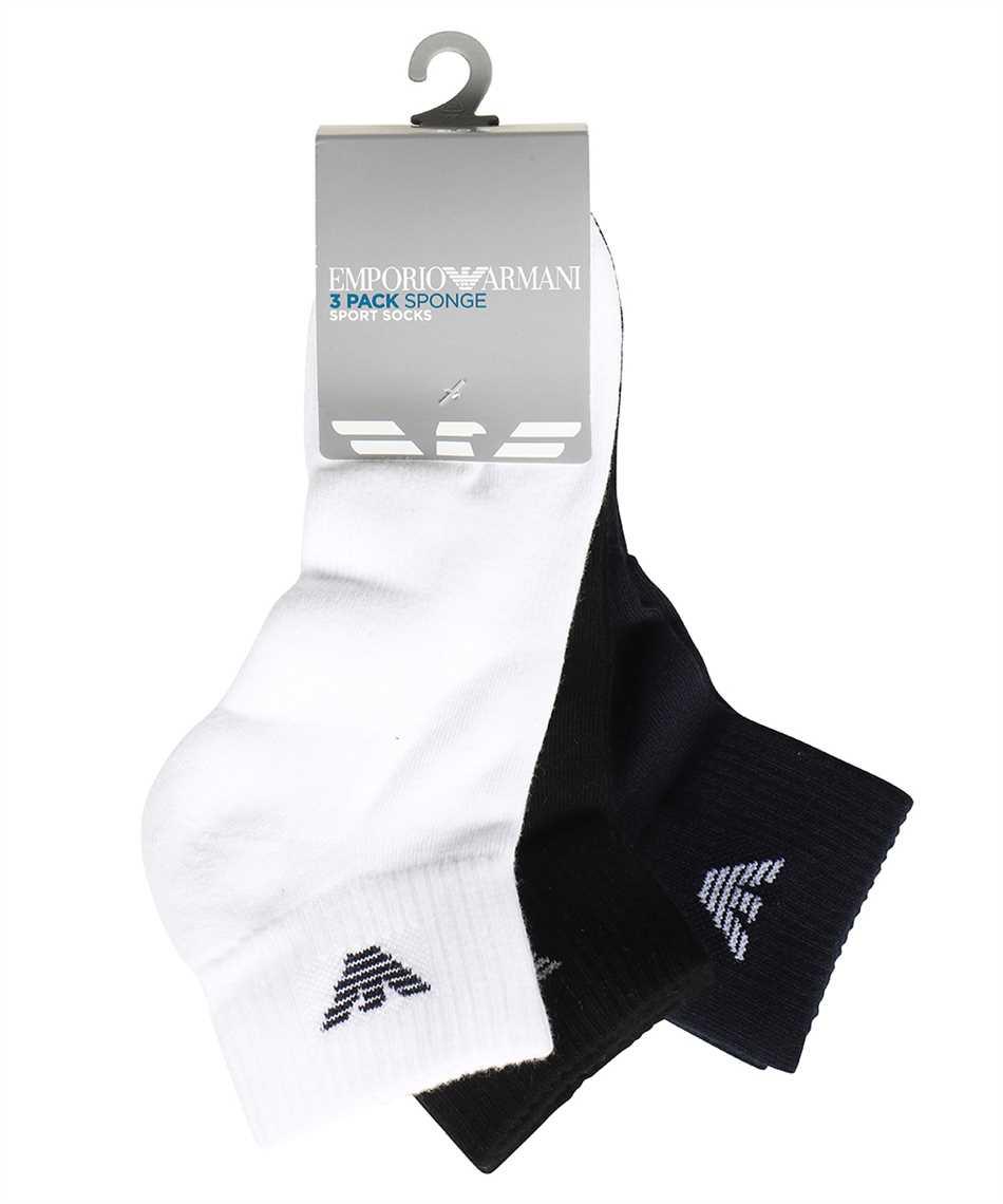 Emporio Armani 302202 CC195 THREE PACK Sock 2