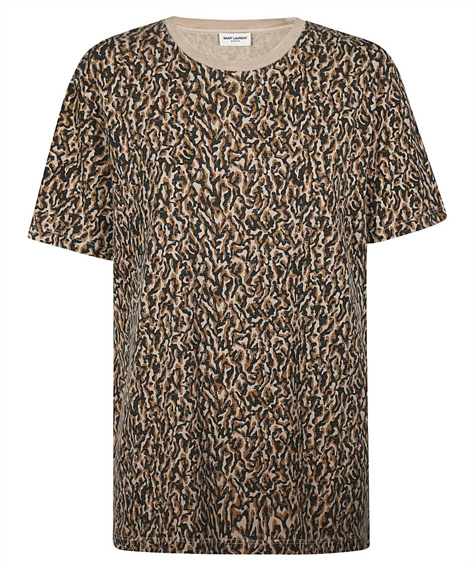 Saint Laurent 628558 YBUY2 LEOPARD-PRINT T-Shirt 1