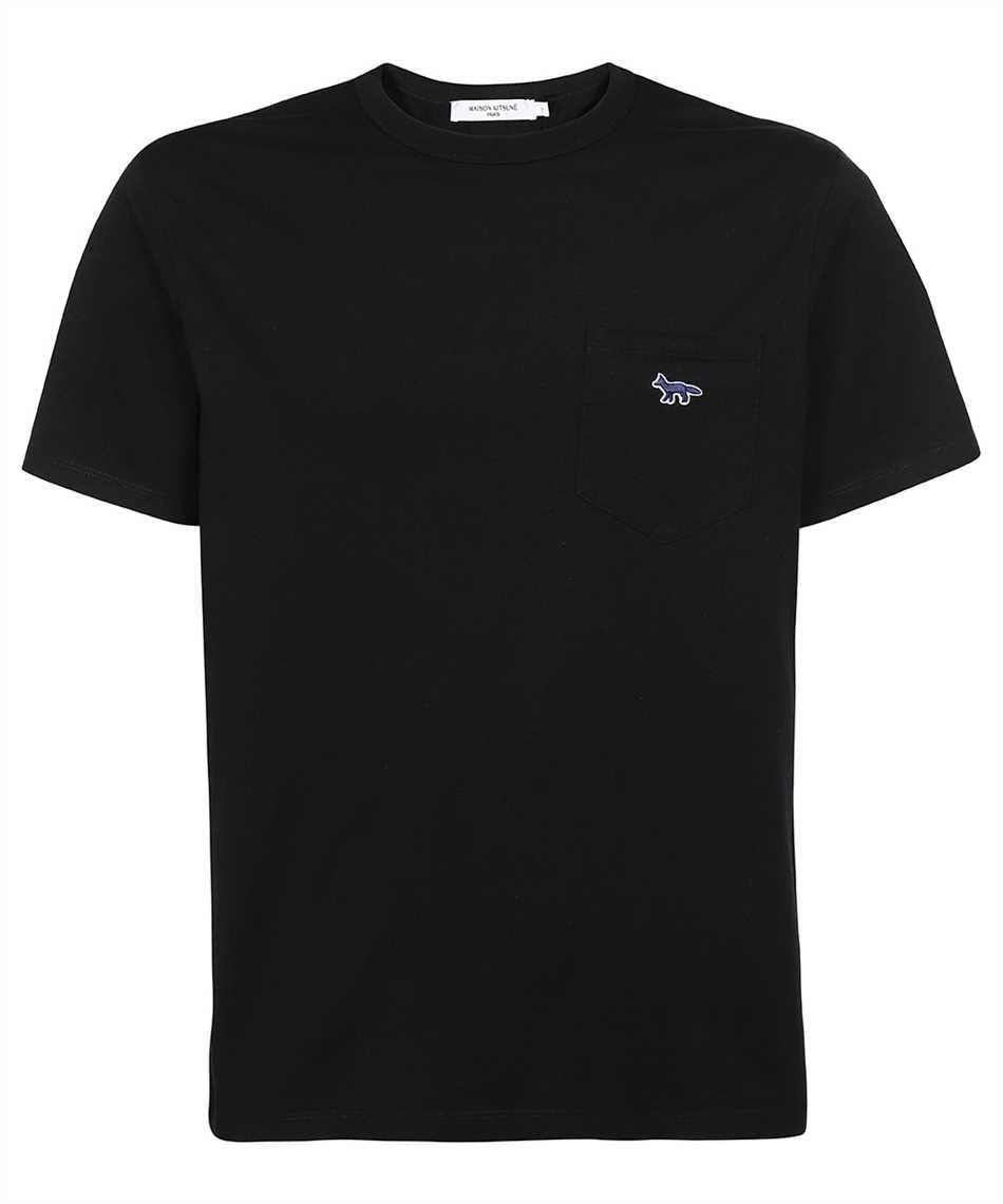 Maison Kitsune HM00136KJ0008 FOX PATCH CLASSIC POCKET T-shirt 1