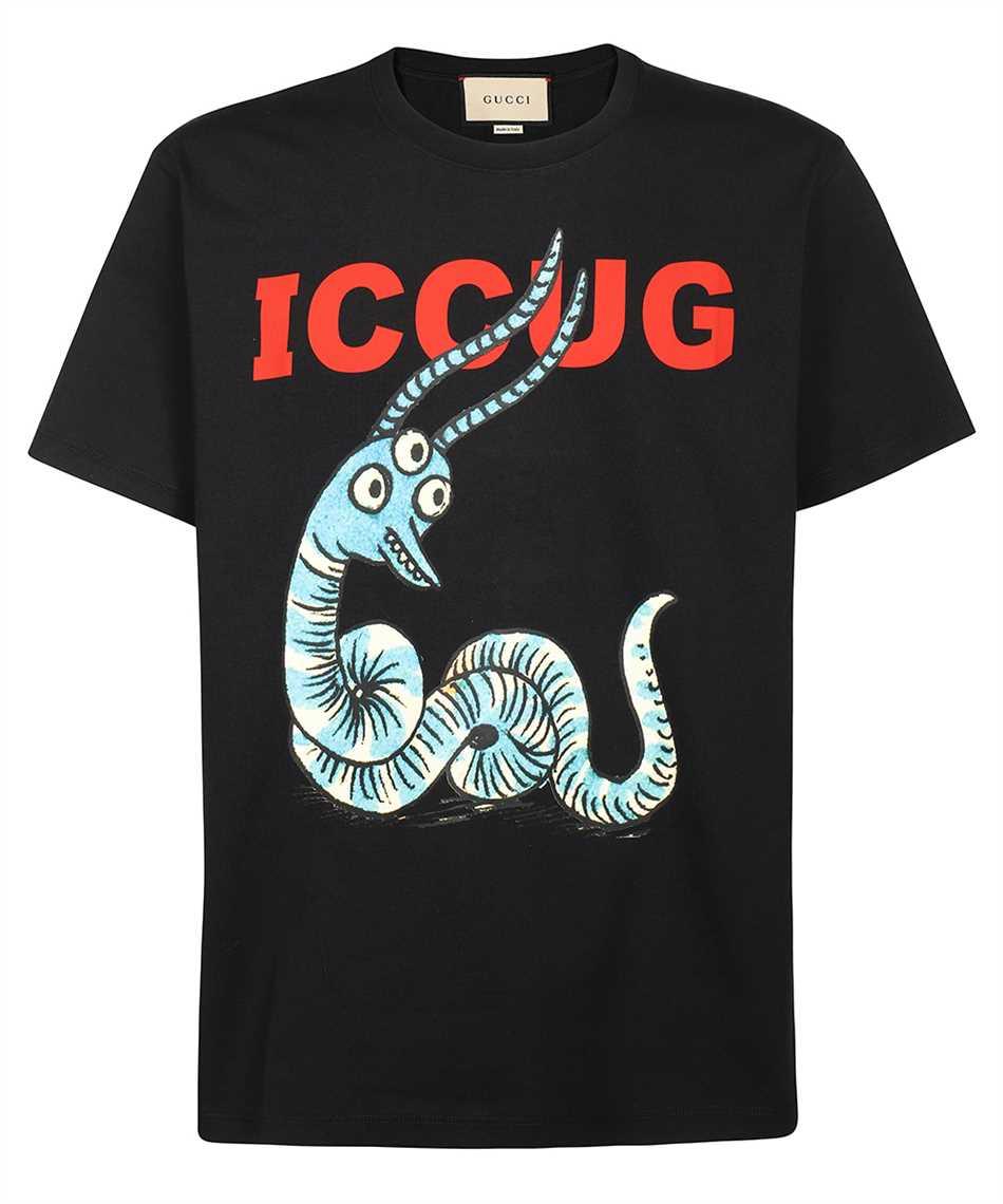 Gucci 548334 XJDJW FREYA HARTAS ICCUG ANIMAL PRINT T-Shirt 1