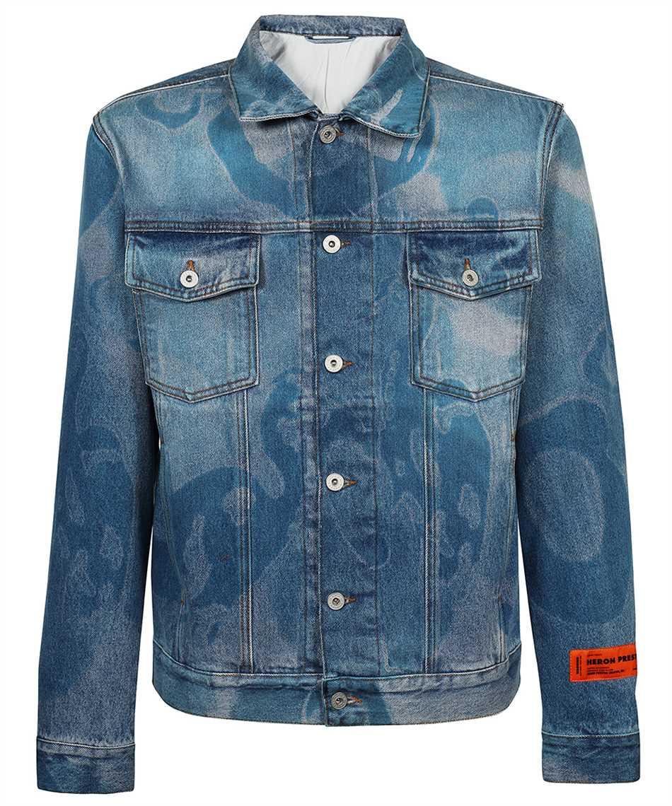 Heron Preston HMYE008F21DEN003 DENIM CAMOU REGULAR Jacket 1