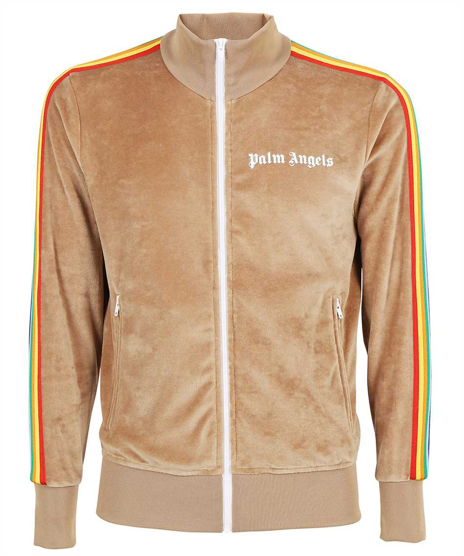 Palm Angels PMBD001F21FAB008 RAINBOW CHENILLE TRACK Jacket 1