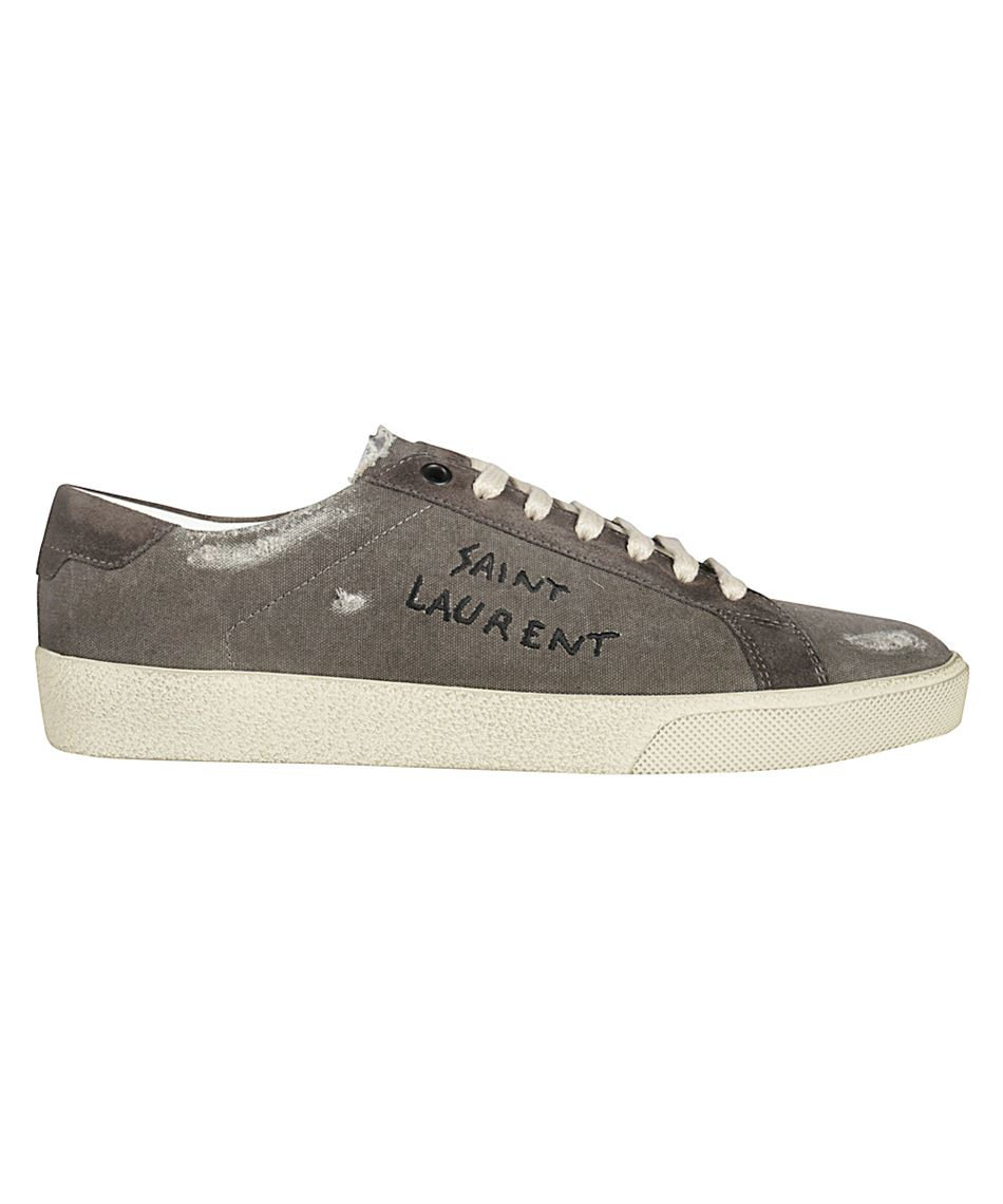 Yves Saint Laurent 549403 93B10 COURT CLASSIC Herren Sneakers mit Logo Grau