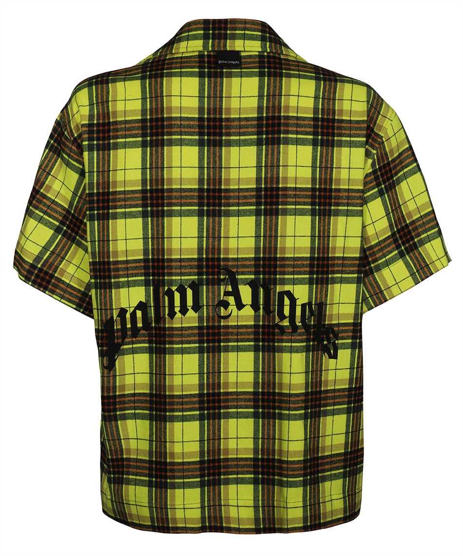 Palm Angels PMGA075F21FAB001 CURVED LOGO BOWLING Shirt 2