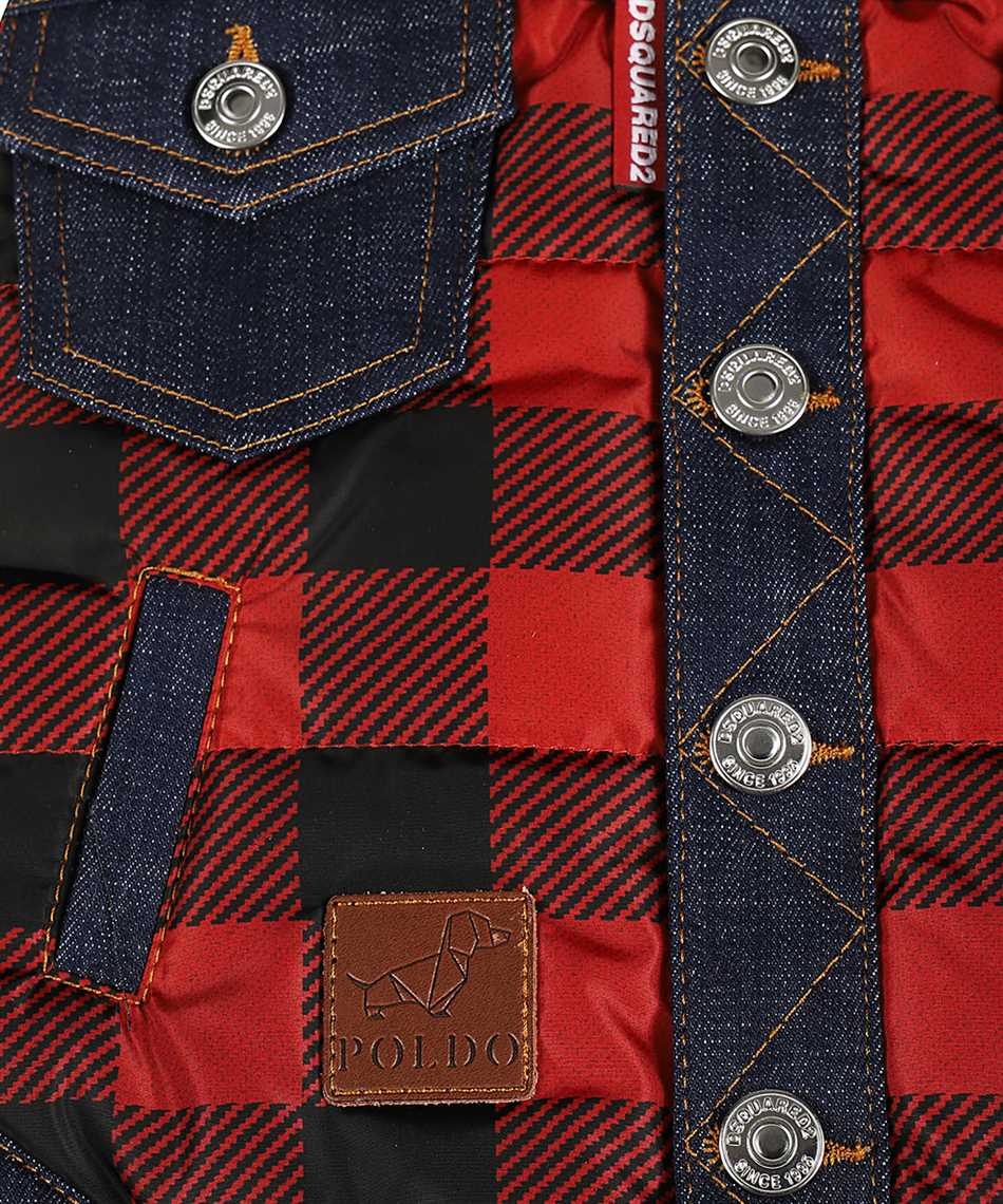 Dsquared2 VEP0001 16803639 D2 x POLDO CHECK COLLARED Gilet 3