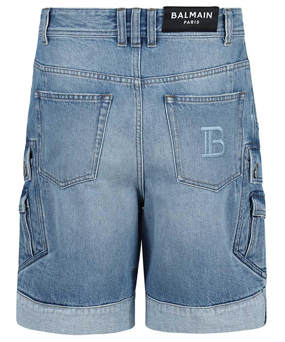 Balmain VH1MA000104D CARGO DENIM Shorts 2