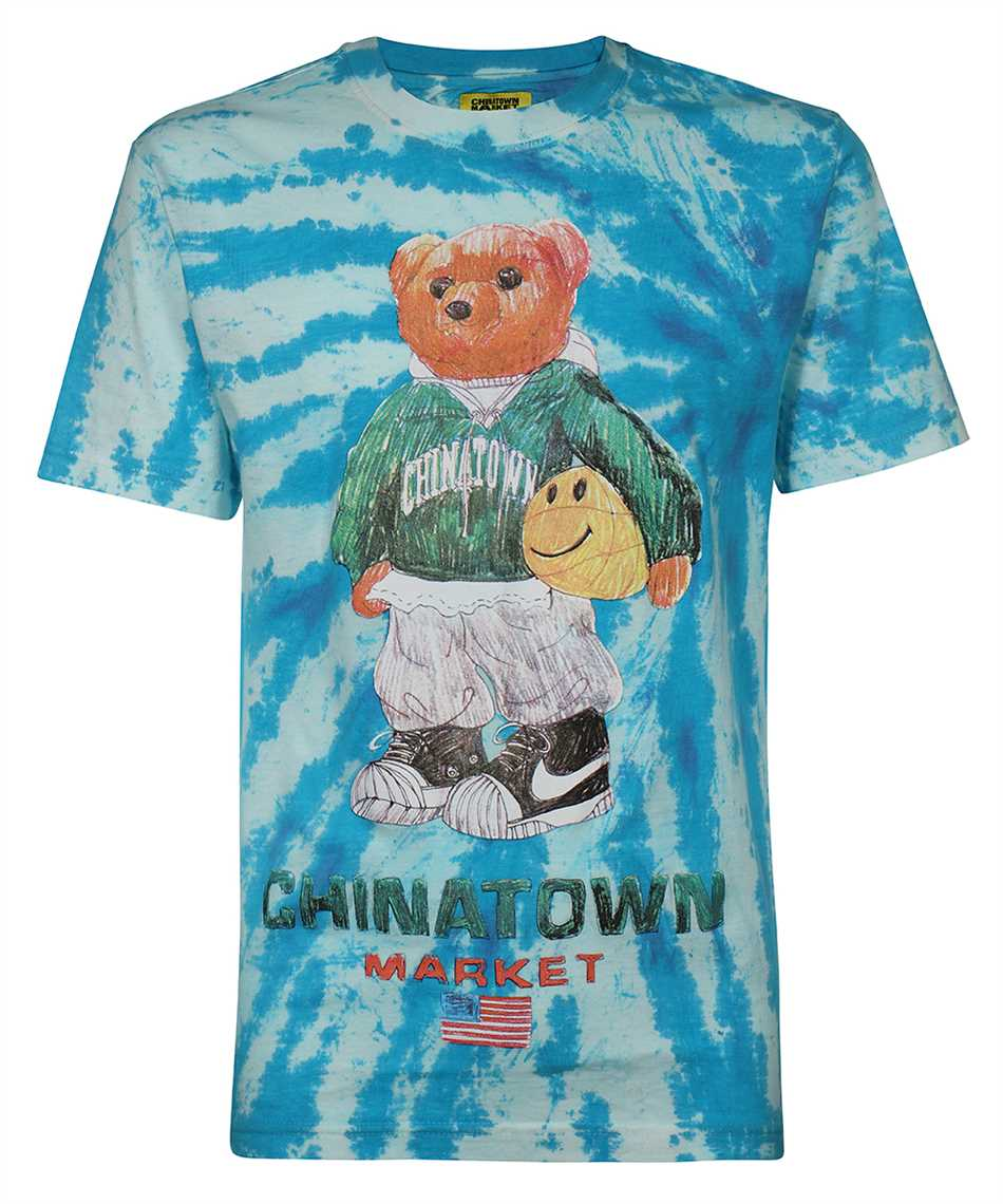 Chinatown Market 1990446 SMILEY SKETCH BASKETBALL BEAR T-shirt 1