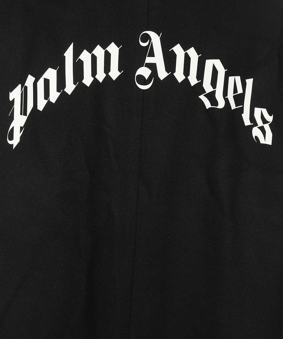 Palm Angels PMEA187F21FAB001 CURVED LOGO Coat 3