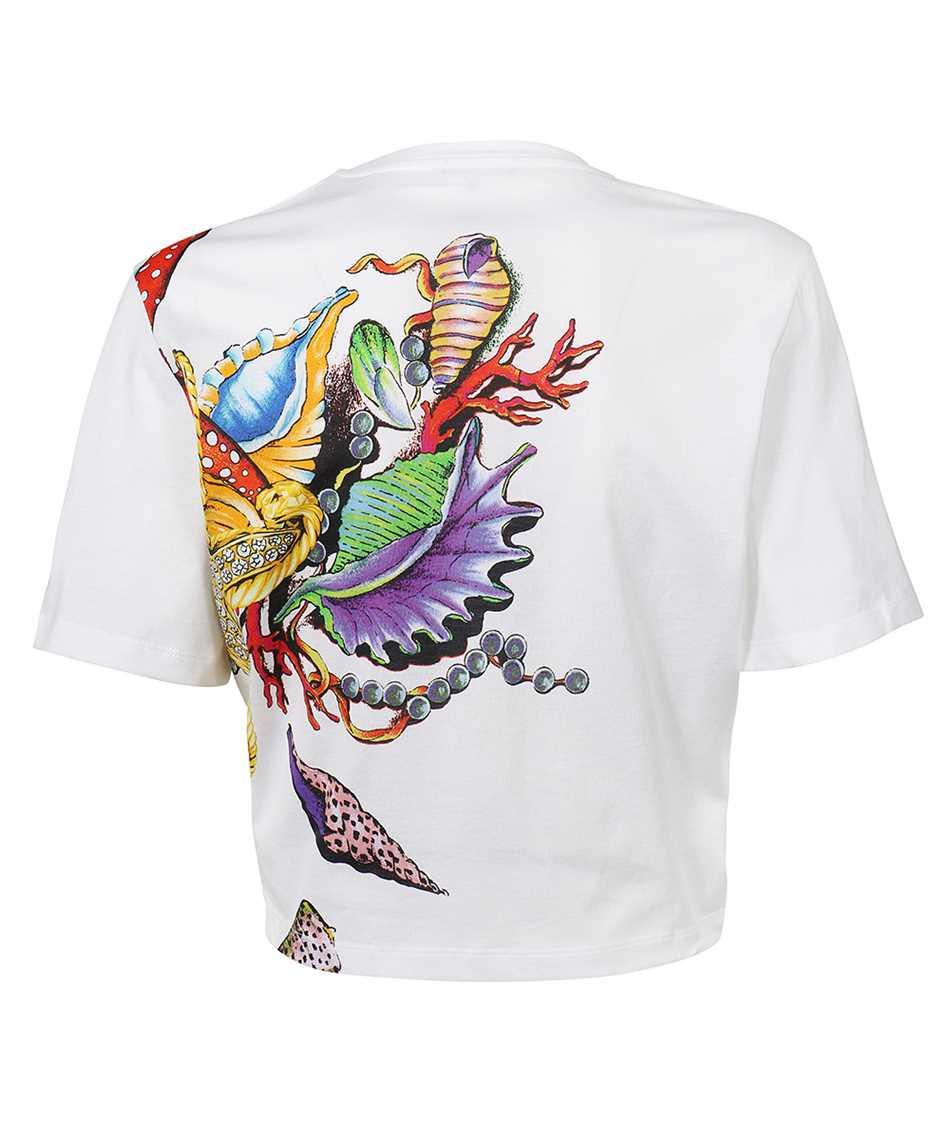 Versace A89371 1F01209 TRÉSOR DE LA MER PRINT CROP T-Shirt 2
