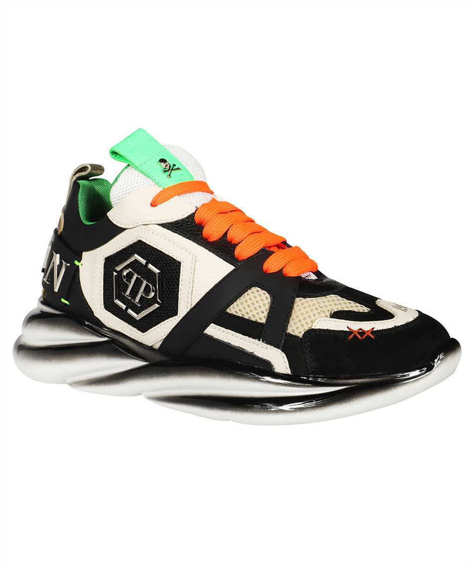 Philipp Plein AAAS MSC 3220 PLE010N RUNNER MIX MATERIALS ICONIC Sneakers 2