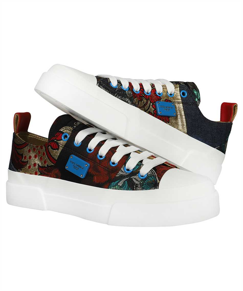 Dolce & Gabbana CK1886 AO683 PATCHWORK FABRI PORTOFINO LIGHT Sneakers 2